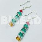 Xmas tree lovely crystal earrings under $ 40