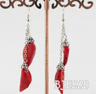 red pepper coral earrings