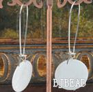 white butterfly shell earring