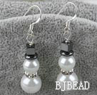 snow man sea shell beads earrings under $ 40