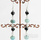 crystal blue jade earrings