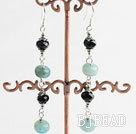 crystal blue jade earrings