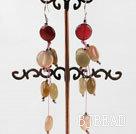3-color jade earrings