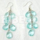 manmade crystal earrings