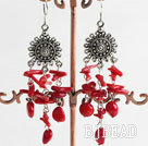 coral earring under $ 40
