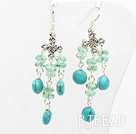 crystal turquoise earring under $ 40