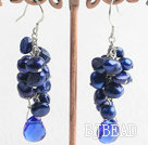 dyed pearl crystal earrings