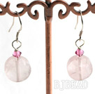 rose quartz earring under $2.5
