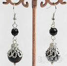 Black agate earring