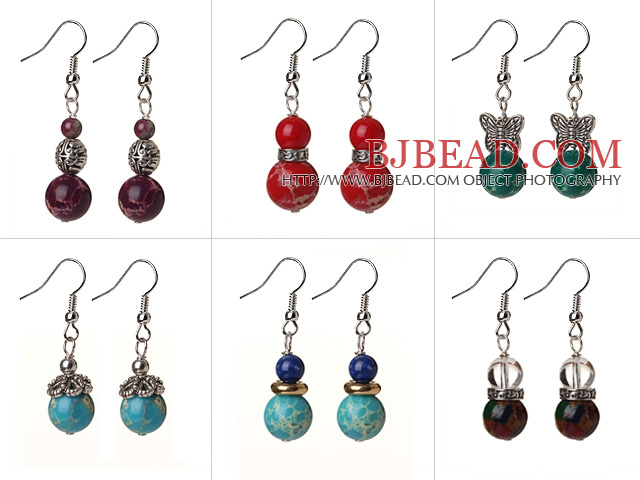 Simple Style Peacock Green Color Shell Beads Earrings