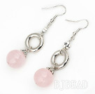 rose quartze earrings