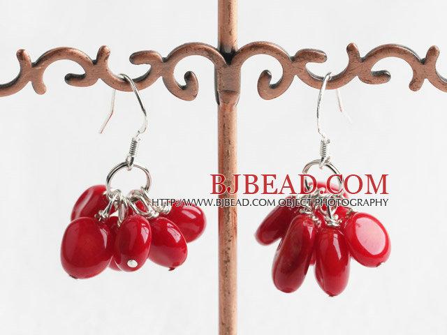 lovely coral earrings