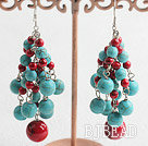 blood stone and turquose earrings