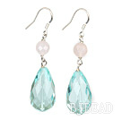 switzerland blue crystal rose quartze earrings