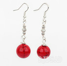 12mm bloodstone ball earrings