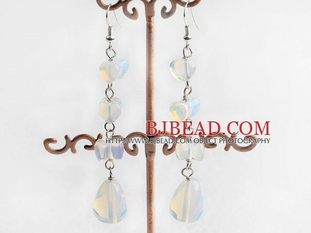 tear drop opal earrings