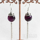 cute style faceted round agate earrings