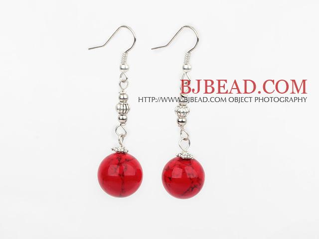12mm bloodstone ball earrings