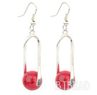 red alaqueca ball earrings