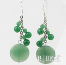 Dangle Style Round Shape Aventurine Earrings