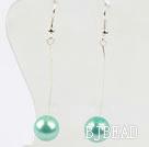 dangling style drop shape black crystal earrings