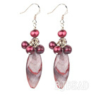 dyed pearl shell earrings