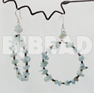 Aquamarine chips beaded earrings