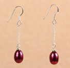 Simple Fashion Wine Red Natural Ferskvandsp...