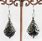 lovely bule sandstone earrings
