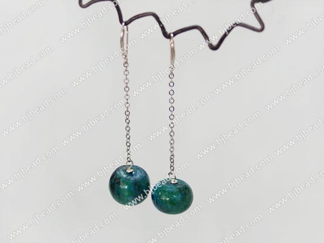 dangling style phoenix stone earrings