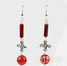 Dangle Style Lovely Carnelian Long Earrings