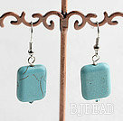 14*18 oblong shape turquoise earrings