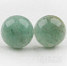 Classic and Simple Design Round Aventurine Stone Studs ( Metal Needle )