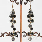 costume jewelry dangling style colorful rhinestone earrings