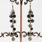 costume jewelry dangling style colorful rhinestone earrings