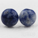 Classic and Simple Design Round Sodalite Studs ( Metal Needle )