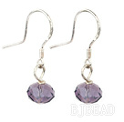 purple crystal earrings under $ 40