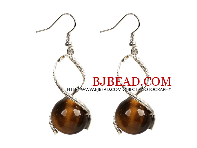 Simple Style Dark Coffee Color Shell Beads Earrings