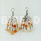 lovely agate vintage earrings