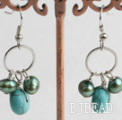 pearl turquoise earrings