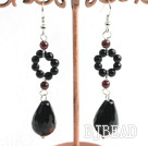 black agate earring under $4