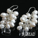 dyed pearl crystal earring