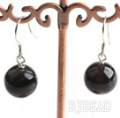 12mm agate earrings