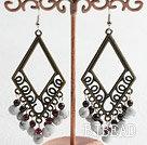 turquoise garnet earrings under $ 40