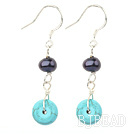 black pearl and turquoise earrings under $ 40