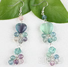 rainbow fluorite dangle earrings