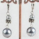 pearl sea shell bead earring