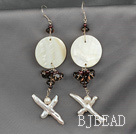 garnet pearl shell earrings under $ 40