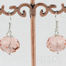pink czech crystal earrings