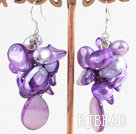 dyed pearl shell earring